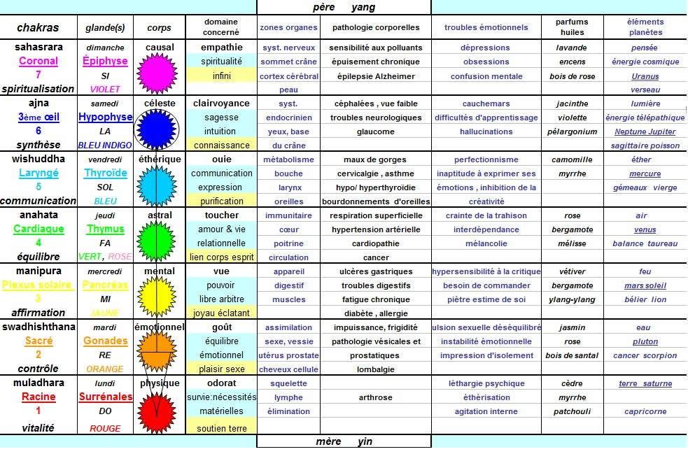 Beliebt Le chakra - Les 7 chakras majeurs du corps éthérique humain EJ39